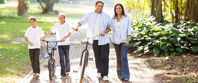 Healthy-family-walking-outdoors-SAN RAMON VALLEY FAMILY MEDICINE